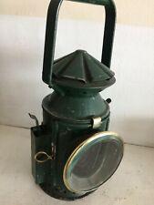 More details for railway 3 aspect complete hand lamp good lens burner & glass wakefields 1944