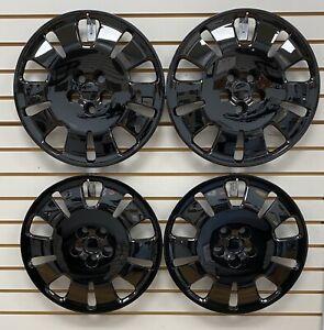"2014-2021 Dodge PROMASTER CITY Van 16"" Steel Wheel BLACK Hubcaps Wheelcovers SET"