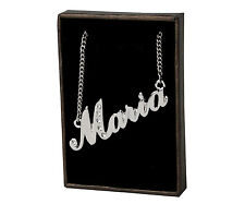 "Name Necklace ""Maria"" - 18ct White Gold Plated - Birthday Gift - Wedding"