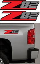 2 - Z82 Chevy Decal Sticker Parts for Silverado GMC or Sierra Truck 4x4