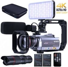 ORDRO Camcorder 4k Video Camera 30fps Vlog Night Vision Video Recorder