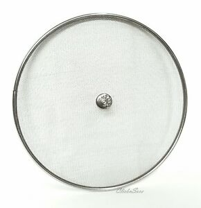 25cm Stainless Steel Frying Pan Splatter Screen Cover Guard Protective Lid Mesh