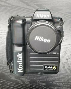 KODAK DCS-460C NIKON N90s VINTAGE DIGITAL SLR, NEAR MINT, POWERS UP