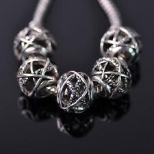 10pcs 12mm Tibetan Silver European Charm Loose Hollow Metal Big Hold Beads 20#