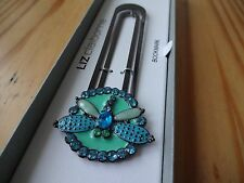 Liz Claiborne bookmark - Blue Diamond Butterfly