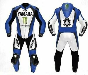 Yamaha Motorcycle Leather Suit Motorbike Racing suit CE Approved Protection