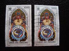 VATICANO - sello yvert y tellier nº 1080 x2 matasellados (A28) stamp (Z)