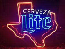 Vintage Cerveza Miller Lite Texas Neon Beer Sign Bar Pub Man Cave
