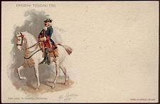 cartolina militare 9° REGG.LANCIERI DI FIRENZE-DRAGONI TOSCANI 1753