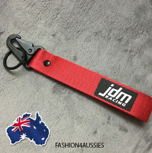 Red JDM keyring Tags JDM keychain Racing Key chain ring drift car bike