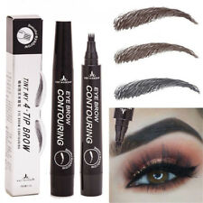 4 Colors Waterproof Microblading Eyebrow Tattoo Pen 4 Head Fine Sketch Enhancer