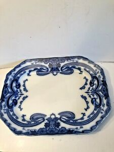 Antique Burgess And Leigh Art Nouveau Large Meat Plate Platter 20 Inches