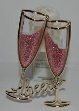 BATH & BODY WORKS CHEERS GLITTER CHAMPAGNE GLASSES WALLFLOWER FRAGRANCE PLUG IN
