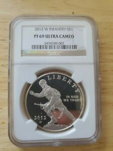 2012 Infrantry 1oz Silver Proof Dollar NGC PF69 ULTRA CAMEO