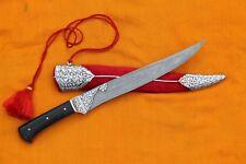 MUGHAL ISLAMIC RAJPUT MARATHA SILVER INLAY DAMASCENED PESH-KABZ/ DAGGER NO SWORD