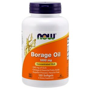 NOW Foods Borage Oil, 1000 mg, 120 Softgels