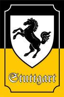 Stuttgart Escudo Letrero de Metal Placa Signo Arqueado Cartel Lata 20 X 30CM