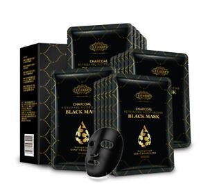 Charcoal Detox Face Masks Skin Moisturizing Anti-Aging Black Mask Sheet