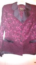 GLITZER COUTURE ESCADA LUXUS Blazer Jacket silk Samt 40/42 HochzeitSmokingold