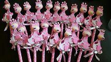 Baby Shower Baby giraffe pens Favors for girl. (20 pcs)