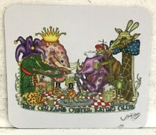 New Orleans Oyster Eating Club Mouse Pad, artist Jamie Hayes, elephant, giraffe