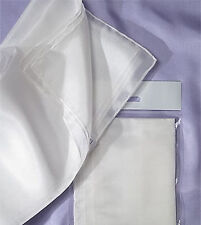 Natural White 'Ponge 5' Silk Scarf 180 x 45 (arty's) Nuno Felting, Silk Painting