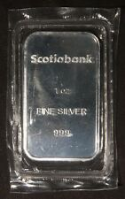 "SCOTIABANK 1 OZ .999 SILVER BAR ""SEALED"" LOT 200802"