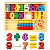 Wooden Multi functional Math Box Toys Set Children Mathematical Education Toys