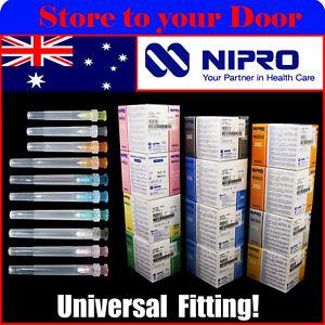 NIPRO Hypodermic Needles 18G 19G 21G 22G 23G 25G 27G 30G Syringes Needle Tips