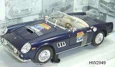 FERRARI 250 GT CALIFORNIA SPIDER DARK BLUE 60TH ANNIVERSARY HOT WHEELS 1:18