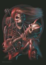 SPIRAL Collection Adesivo/Sticker # 4 Bad to the Bone Skull Guitar