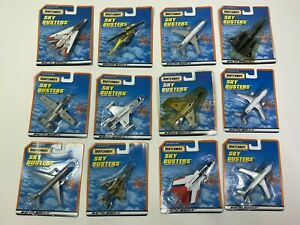 Vintage Matchbox Sky Busters Commercial & Military Aircraft Sealed Set Of 12