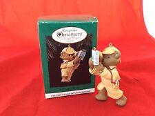 Hallmark Holiday Pursuit Christmas Ornament Keepsake 1994 Collector's Club Bear