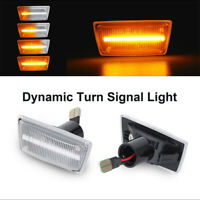 2x Dynamic Side Indicator LED Repeater Light For OPEL Vauxhall Adam Astra Corsa