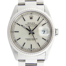 ROLEX - 18kt White Gold-Stainless DATEJUST Model 16234 SANT BLANC