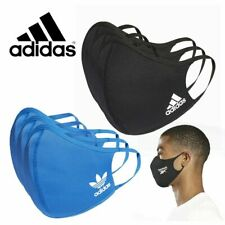 ADIDAS Face Mask Cover Reusable Size XS/S BLACK Single mask (1 supplied) .