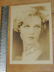 Vintage Movie Actress Esther Ralston Signed Photo