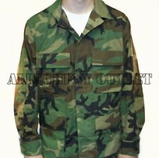 US Military Army WOODLAND CAMO BDU Shirt Jacket Coat SMALL / LONG NEW