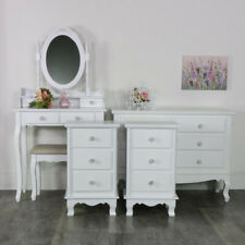White French bedroom furniture dressing table set chest drawers bedside tables