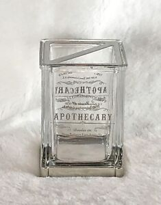 Bella Lux Dr H Gnadendorff Apothecary Toothbrush Holder Vanity Bathroom Glass