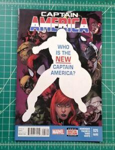 Captain America #25 (2014) 2nd Print NM 1st App Sam Wilson Cap! Marvel