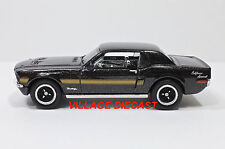2015 Matchbox #15 '68 Ford Mustang GT/CS RAVEN BLACK METALLIC/MINT