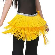 US New Belly Dance Costume Tribal Tassel Hip Scarf wrap Belt  Hip Skirt Fringes