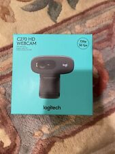 NEW Logitech C270 HD Webcam, 720p, Video Calls, Mac and Windows SHIPS FAST!