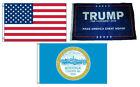 3x5 Trump #1 & USA American & City of Boston Wholesale Set Flag 3'x5'