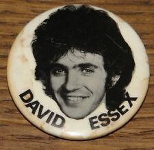 DAVID ESSEX EARLY FAN CLUB GENUINE ORIGINAL VINTAGE 1970s PIN BUTTON BADGE