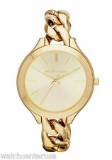 Michael Kors Women's MK3222 Slim Runway Champagne Dial Gold-tone Watch