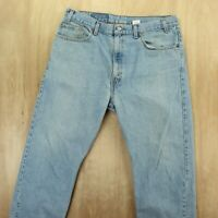 vtg usa Levi's 505 fit jeans 38 x 30 tag light wash faded distressed grunge 90s