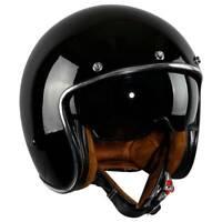 3/4 Open Face Vintage Scooter Motorcycle DOT Unisex Helmet Suede LinerM L XL XXL