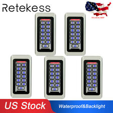 5*Waterproof Keypad Door Access Control Systems Standalone Entry Controller US